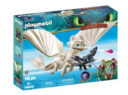 PLAYMOBIL -  LIGHT FURY WITH BABY DRAGON AND CHILDREN (16 PIECES) 70038