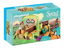 PLAYMOBIL -  LUCKY & SPIRIT WITH HORSE STALL (57 PIECES) 9478