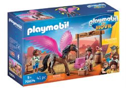 PLAYMOBIL -  MARLA AND DEL WITH FLYING HORSE (41 PIECES) 70074