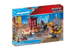 PLAYMOBIL -  MINI EXCAVATOR WITH BUILDING SECTION  70443