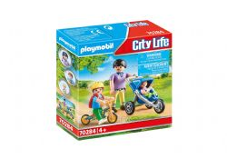 PLAYMOBIL -  MOTHER WITH CHILDREN (17 PIECES) 70284