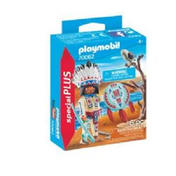 PLAYMOBIL -  NATIVE AMERICAN CHIEF (6 PIECES) 70062
