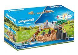 PLAYMOBIL -  OUTDOOR LION ENCLOSURE (61 PIECES) 70343