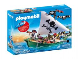 PLAYMOBIL -  PIRATE SHIPE WITH UNDERWATER MOTOR (102 PIECES) 70151