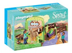 PLAYMOBIL -  PRU & CHICA LINDA WITH HORSE STALL (59 PIECES) 9479