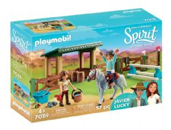PLAYMOBIL -  RIDING ARENA WITH LUCKY & JAVIER (57 PIECES) 70119