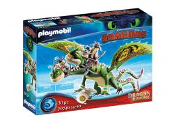 PLAYMOBIL -  RUFFNUT AND TUFFNUT WITH BARF AND BELCH (30 PIECES) -  DRAGON RACING 70730