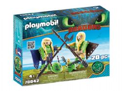 PLAYMOBIL -  RUFFNUT AND TUFFNUT WITH FLIGHT SUIT (20 PIECES) 70042