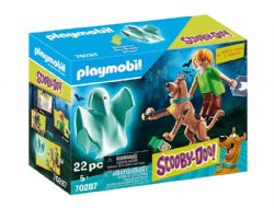 PLAYMOBIL -  SCOOBY AND SHAGGY WITH GHOST (22 PIECES) 70287