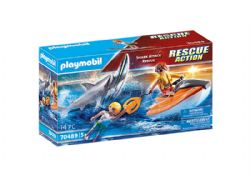 PLAYMOBIL -  SHARK ATTACK RESCUE (14 PIECES) 70489