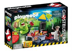 PLAYMOBIL -  SLIMER WITH HOT DOG STAND (53 PIECES) 9222