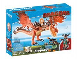 PLAYMOBIL -  SNOTLOUT AND HOOKFANG (33 PIECES) 9459