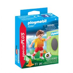 PLAYMOBIL -  SOCCER PLAYER WITH GOAL (11 PIECES) 70157