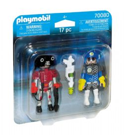 PLAYMOBIL -  SPACE POLICE OFFICER AND THIEF (17 PIECES) 70080