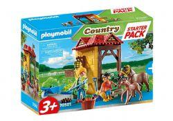 PLAYMOBIL -  STARTER PACK HORSE FARM (41 PIECES) 70501