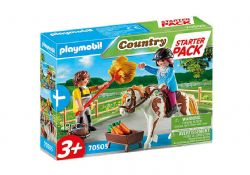 PLAYMOBIL -  STARTER PACK HORSEWOMAN AND GROOM (19 PIECES) 70505