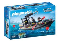 PLAYMOBIL -  TACTICAL UNIT BOAT 9362