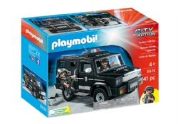 PLAYMOBIL -  TACTICAL UNIT CAR (41 PIECES) 5674