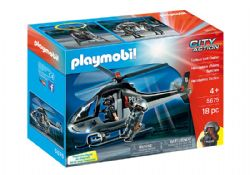 PLAYMOBIL -  TACTICAL UNIT COPTER (18 PIECES) 5675