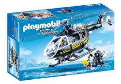 PLAYMOBIL -  TACTICAL UNIT HELICOPTER 9363