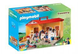 PLAYMOBIL -  TAKE ALONG HORSE STABLE (81 PIECES) 5671