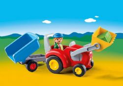 PLAYMOBIL -  TRACTOR WITH TRAILER 6964