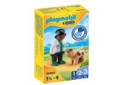PLAYMOBIL -  VET WITH DOG 70407