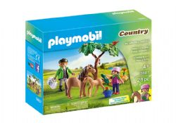 PLAYMOBIL -  VET WITH PONY AND FOAL (28 PIECES) 5687