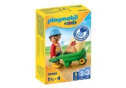 PLAYMOBIL -  WORKER WITH WHEELBARROW 70409