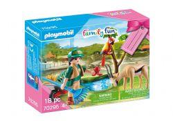 PLAYMOBIL -  ZOO GIFT SET (18 PIECES) 70295