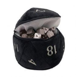 PLUSH D20 - BLACK DICE BAG