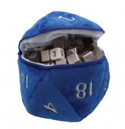 PLUSH D20 - BLUE DICE BAG