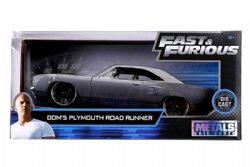 PLYMOUTH -  DOM'S ROAD RUNNER 1/24 - GRIS -  FAST AND FURIOUS