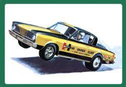PLYMOUTH -  WORLD FAMOUS BARRACUDA DRAG CAR 1966 1/25 (MEDIUM)