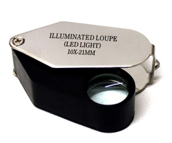 POCKET MAGNIFIERS -  LED ILLUMINATED MAGNIFIER (10X)
