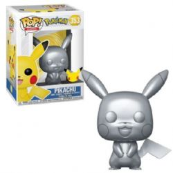 POKÉMON -  POP! VINYL FIGURE OF PIKACHU (METALLIC) (4 INCH) -  25TH ANNIVERSARY 353