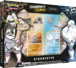 POKÉMON SWORD AND SHIELD -  SPECIAL PIN COLLECTION - CIRCHESTER GYM (5P + 2 CARDS) -  CHAMPION'S PATH