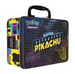 POKEMON -  COLLECTOR TIN CHEST (7 BOOSTERS + PIN + ACCESSORIES) -  DETECTIVE PIKACHU