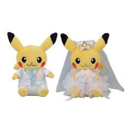 POKEMON -  PAIR OF PIKACHU PLUSH (PRECIOUS WEDDING)(8 INCH)