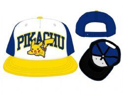 POKEMON -  PIKACHU TRI COLOR CAP - BLUE , WHITE & YELLOW