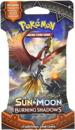 POKEMON SUN AND MOON -  BURNING SHADOWS - SLEEVED BOOSTER PACK (P10)
