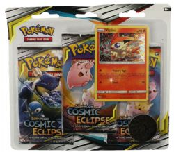 POKEMON SUN AND MOON -  COSMIC ECLIPSE - VICTINI BLISTER PACK (3P10)