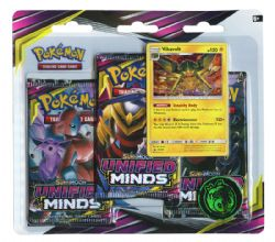 POKEMON SUN AND MOON -  UNIFIED MINDS - VIKAVOLT BLISTER PACK (3P10)