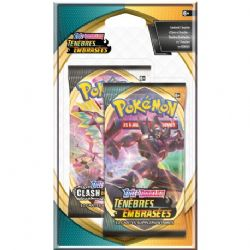 POKEMON SWORD AND SHIELD -  1 DARKNESS ABLAZE BOOSTER PACK + 1 SWORD & SHIELD BOOSTER PACK (FRENCH) (2P10) -  TÉNÈBRES EMBRASÉES