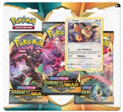 POKEMON SWORD AND SHIELD -  EEVEE BLISTER PACK (ENGLISH) (3P10) -  DARKNESS ABLAZE