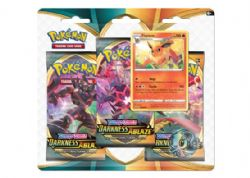 POKEMON SWORD AND SHIELD -  FLAREON BLISTER PACK (ENGLISH) (3P10) -  DARKNESS ABLAZE
