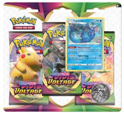POKEMON SWORD AND SHIELD -  VAPOREON BLISTER PACK (ENGLISH) (3P10) -  VIVID VOLTAGE