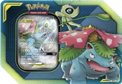 POKEMON -  TAG TEAM CELEBI AND VENUSAUR GX TIN (4 PACKS + ACCESORIES)