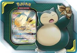 POKEMON -  TAG TEAM EEVEE AND SNORLAX GX TIN (4 PACKS + ACCESORIES)