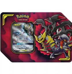 POKEMON -  TAG TEAM GARCHOMP & GIRATINA GX TIN (4 PACKS + ACCESORIES) -  POWER PARTNERSHIP